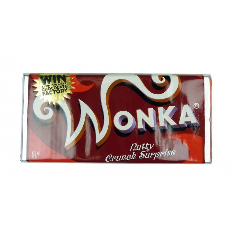 Real Chocolate Hero Wonka Bar Nutty Crunch Surprise